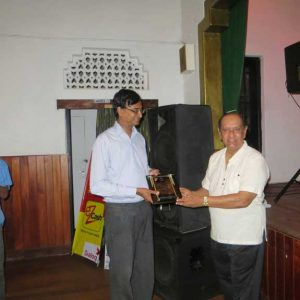 Plaque Presentation to Mr. Upali Gunasekera